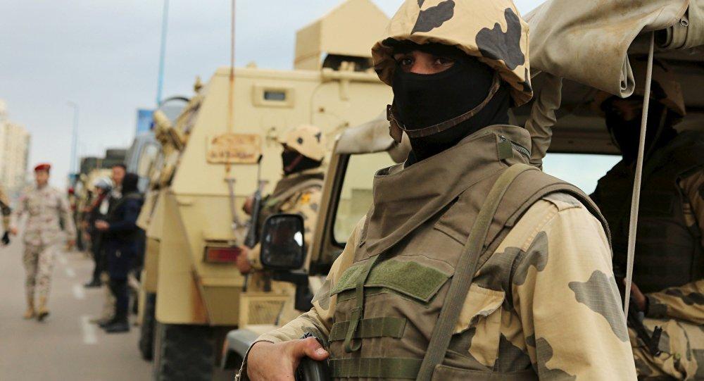 Un soldado del Ejército de Egipto