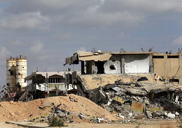 Un edificio destruido en Libia (archivo)