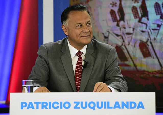 Patricio Zuquilanda, candidato a la Presidencia de Ecuador por el centroizquierdista Partido Sociedad Patriótica (PSP)