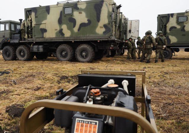 Los espectaculares ejercicios de topógrafos militares en Kubán