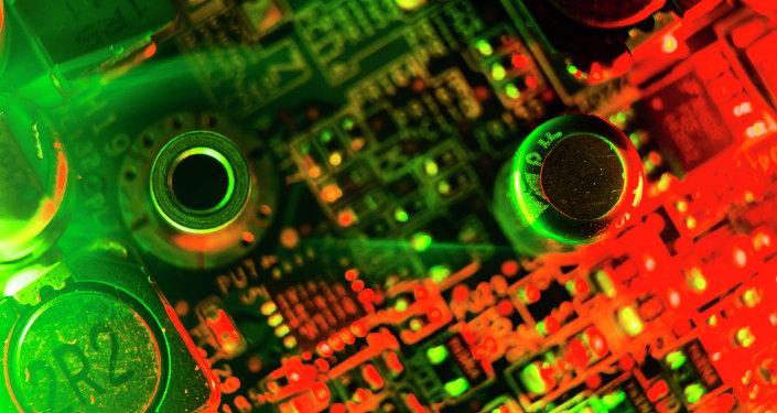 Interior de una computadora