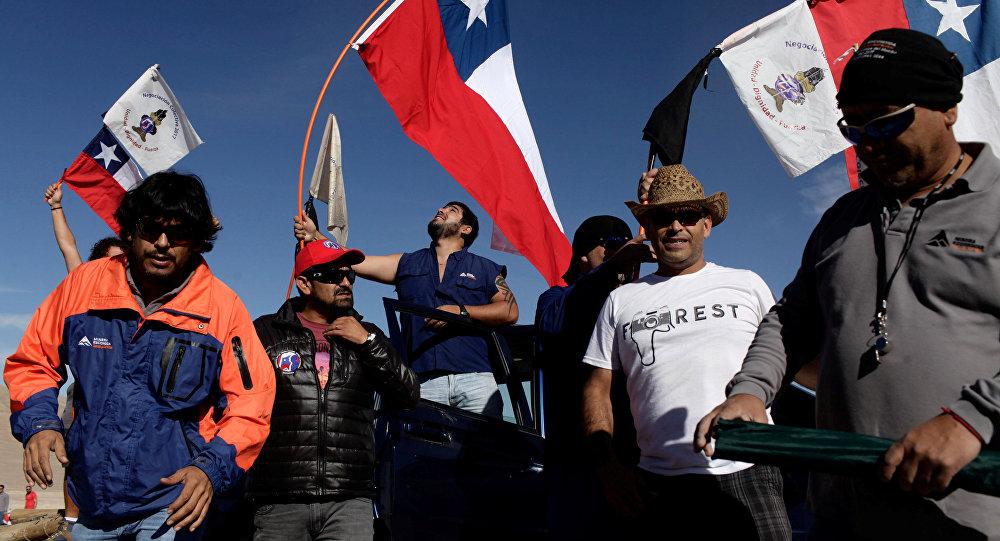 Mineros de Escondida se preparan para una huelga (archivo)