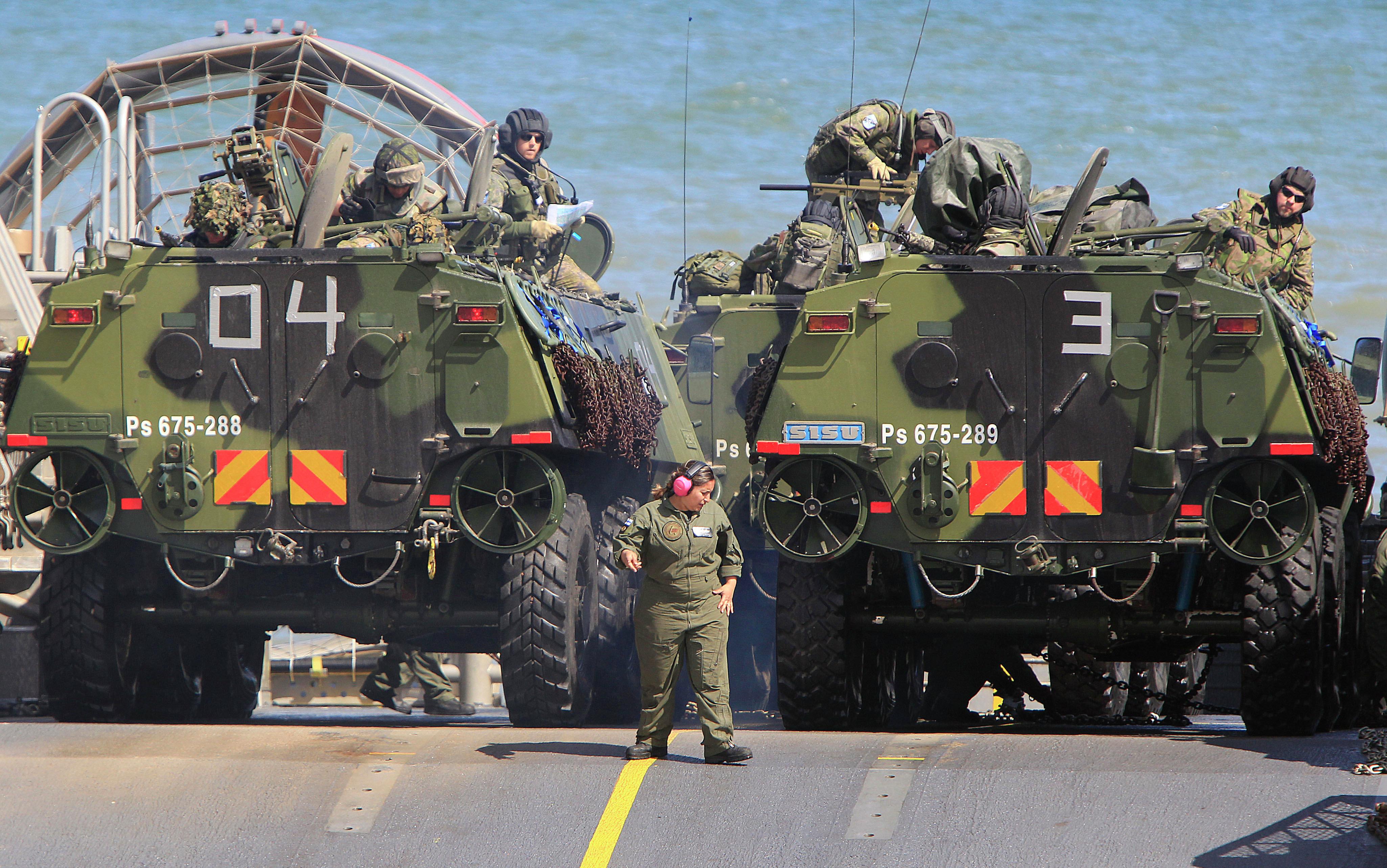 Tropas de la OTAN participan en ejercicios militares en el Mar Báltico, cerca de las fronteras con Rusia. Polonia, 17 de junio de 2015