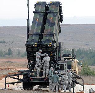 Sistema de misiles antiaéreos estadounidense Patriot (archivo)