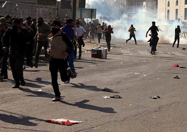 Manifestantes iraquíes (archivo)
