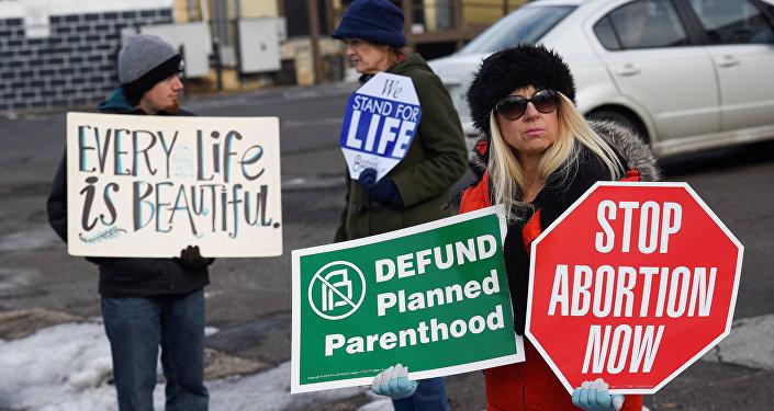 Protestas contra los abortos en EEUU