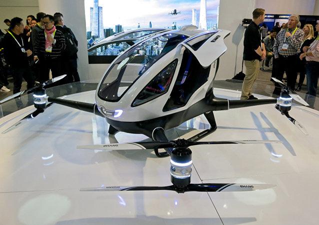 Dron de pasajeros Ehang (archivo)