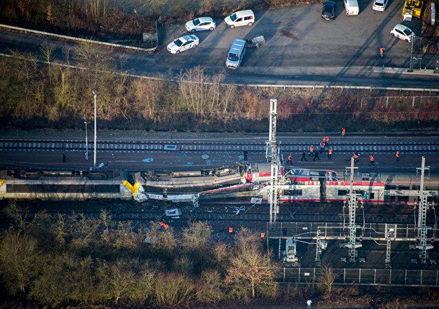 Colisión de trenes en Luxemburgo