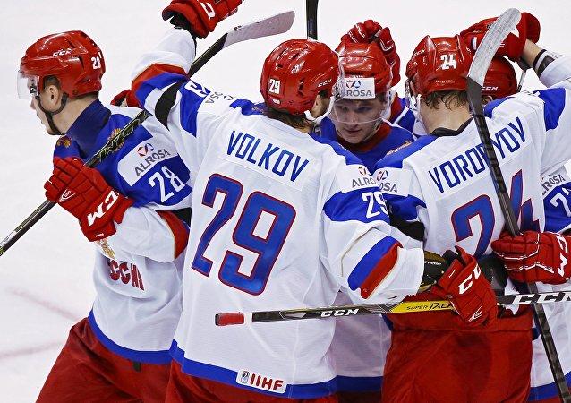 Equipo ruso juvenil de hockey sobre hielo (archivo)