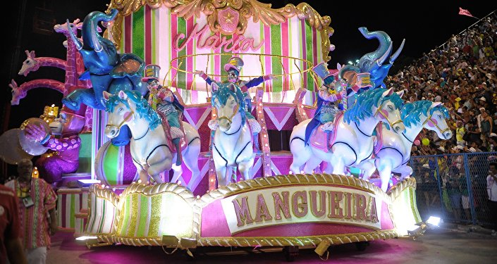 La escuela de samba de Mangueira campeona del Carnaval de Río de Janeiro (archivo)