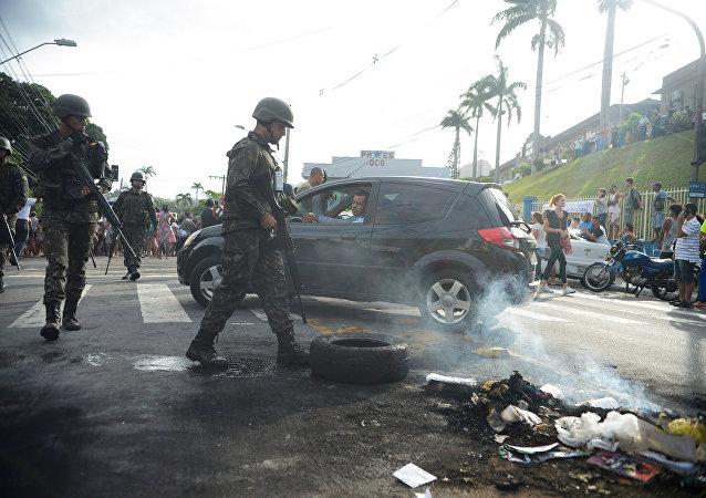 Crisis policial en Espírito Santo, Brasil
