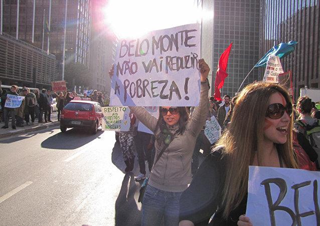 Protestas contra Belo Monte en Brasil (archivo)