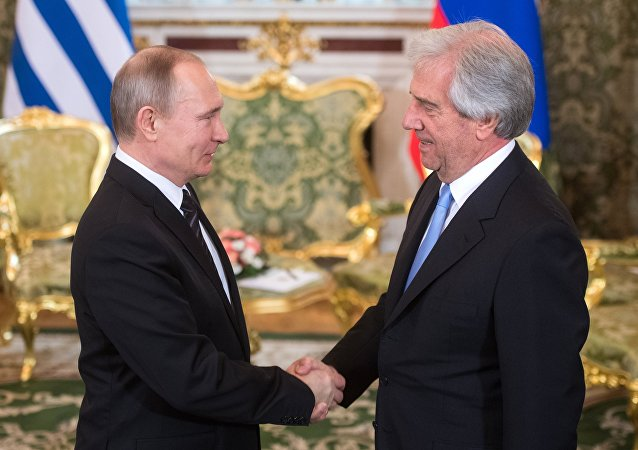 Vladimir Putin y Tabaré Vázquez