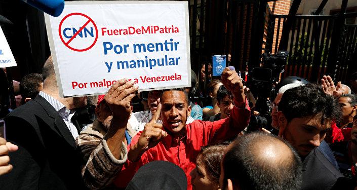 Protestas contra CNN en Venezuela