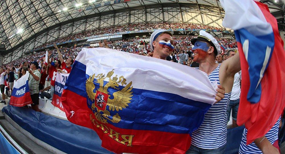 Aficionados rusos durante la Eurocopa (archivo)