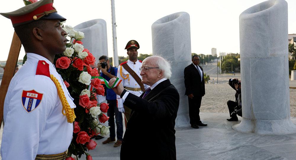 Presidente de Irlanda, Michael D. Higgins en La Habana