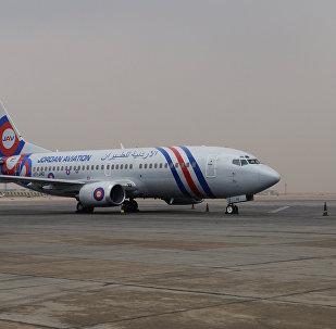 Un avión en el aeropuerto internacional de El Cairo
