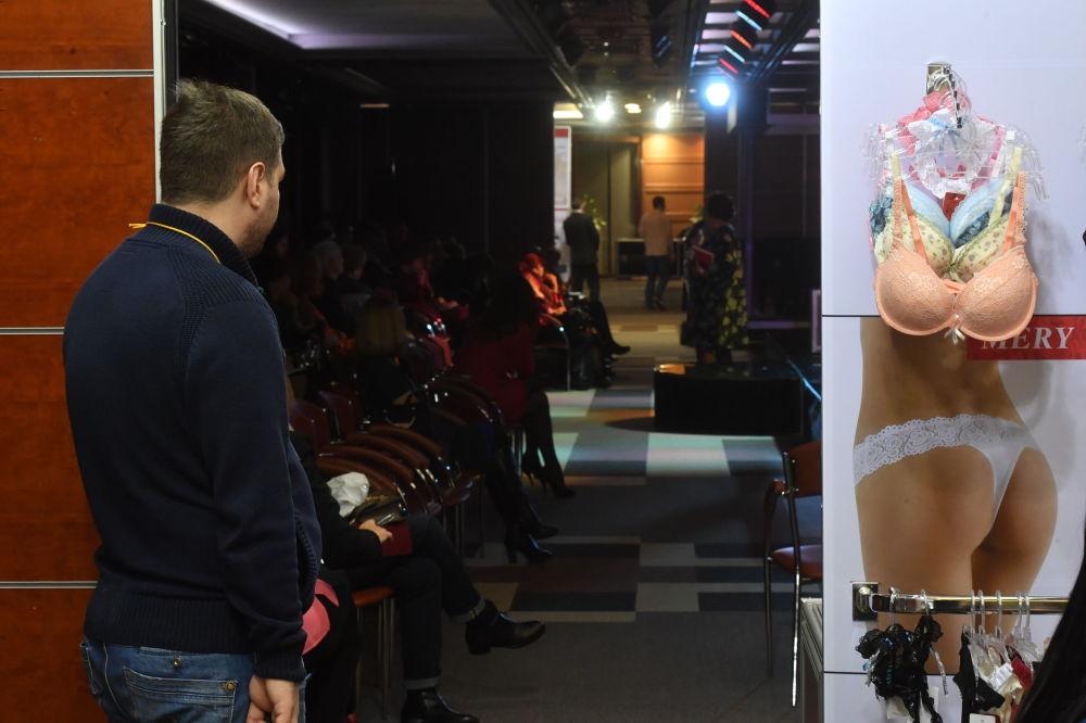 Desfile de ropa interior Lingerie Show-Forum en Moscú