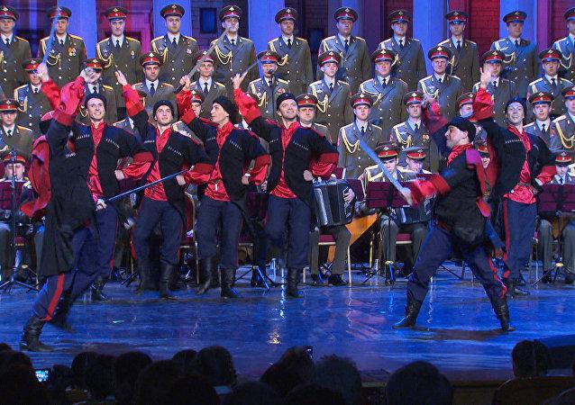La composición actualizada del conjunto Alexándrov realiza su primera actuación tras la tragedia