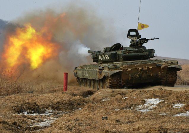 Etapas del biatlón de tanques en las regiones de Primorie y Voronezh