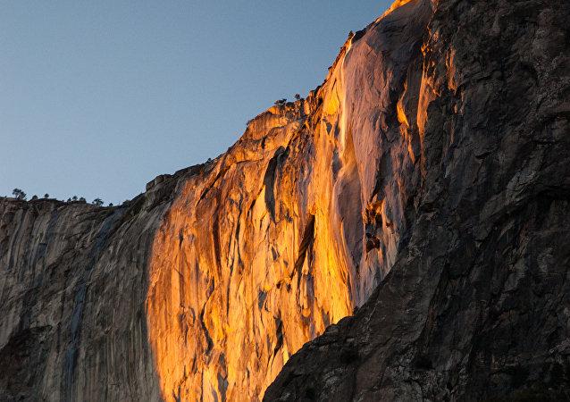 La cascada Cola de Caballo