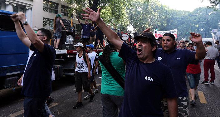 Una huelga de trabajadores en Buenos Aires (archivo)