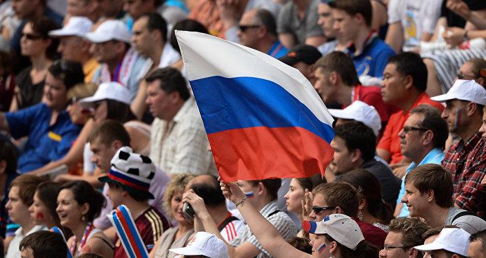 Hinchas rusos (imagen referencial)