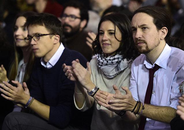 Íñigo Errejón, Irene Montero y Pablo Iglesias