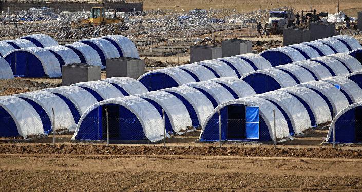 Campamento de refugiados al sur de Mosul, Irak