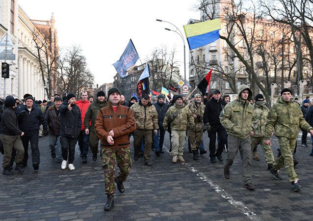 Acciones de protesta en Kiev