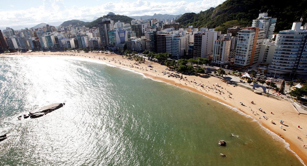 La playa de Espírito Santo, Brasil