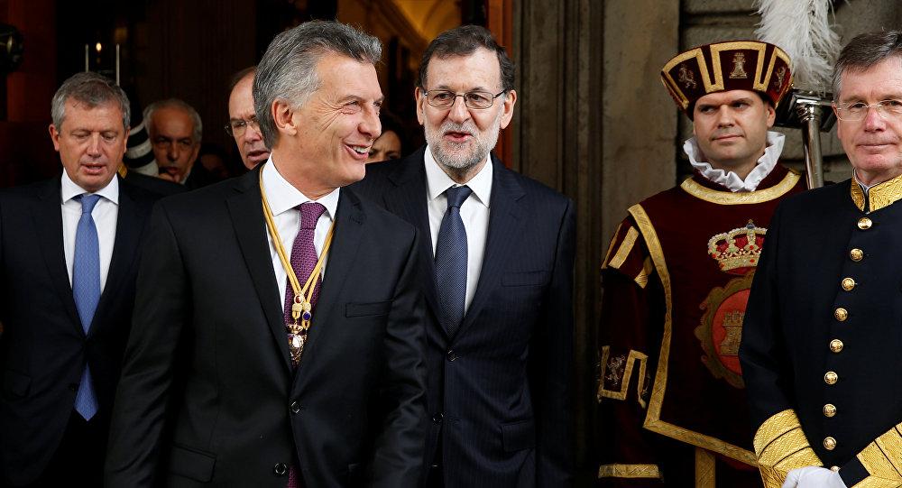 Presidente de Argentina, Mauricio Macri, y primer ministro de España, Mariano Rajoy