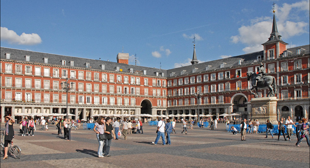Plaza mayor de Madrid España