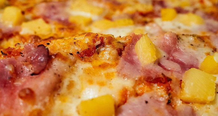 Pizza con piña