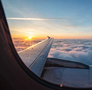 La vista desde la ventana de un avión