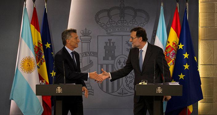 Mauricio Macri, presidente de la República Argentina, y Mariano Rajoy, presidente del Gobierno español