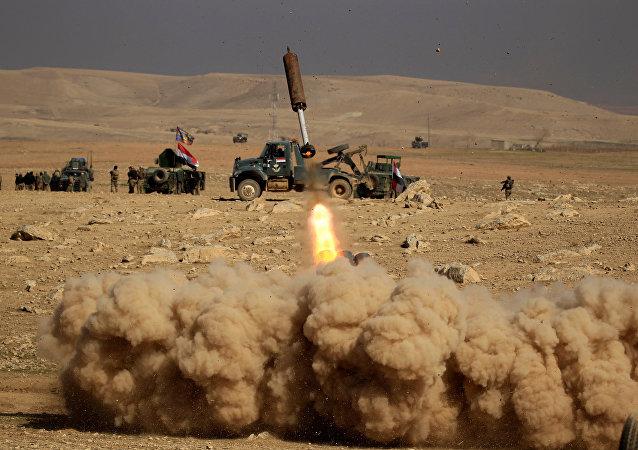 Soldados de las fuerzas iraquíes, en Mosul