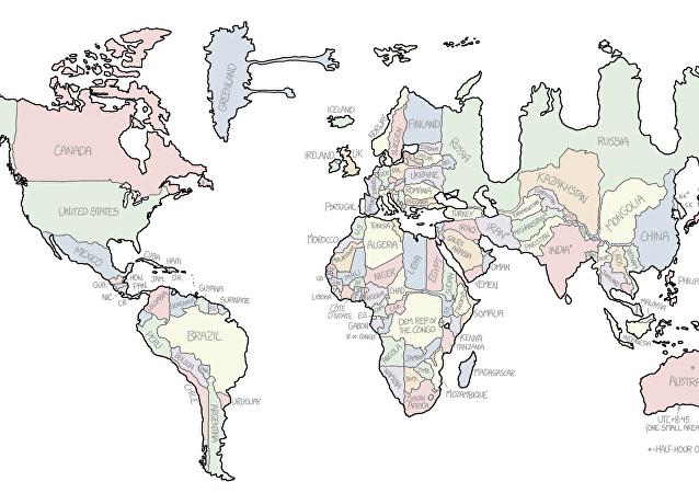 Mapamundi de Randall Munroe