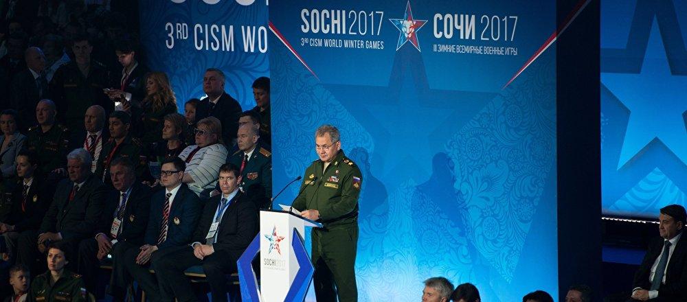 Ceremonia de apertura de los  Juegos Militares Mundiales en Sochi