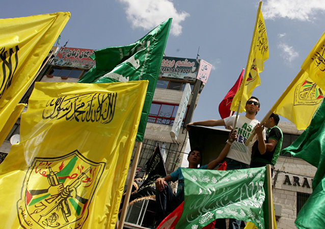 Simpatizantes del movimiento Fatah