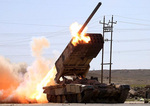 El Ejército iraquí lucha contra los terroristas de Daesh