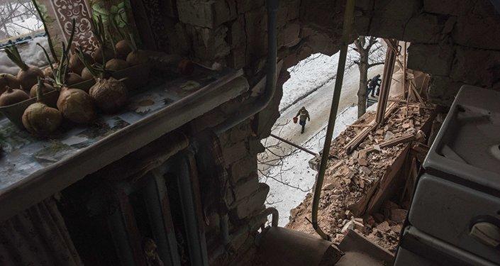 Las destrucciones en Donbás (archivo)