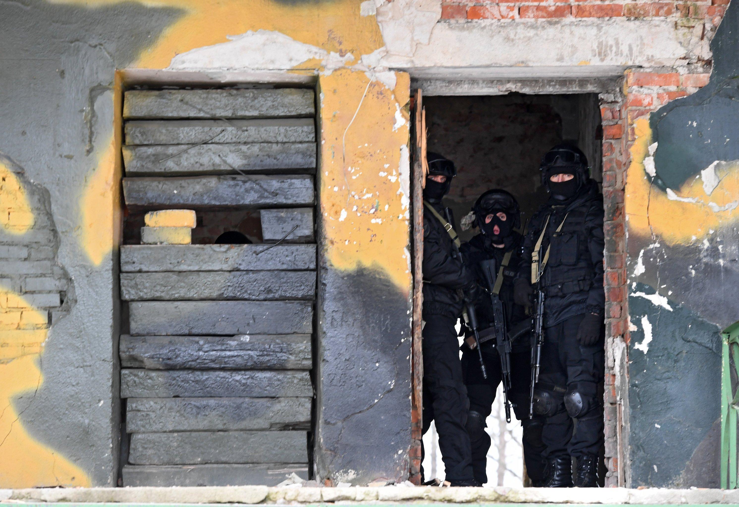 Soldados de las Fuerzas de Operaciones Espaciales de Rusia