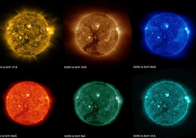 Primeras imágenes del Sol del GOES-16