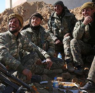 Militantes de las Fuerzas Democráticas Sirias (archivo)