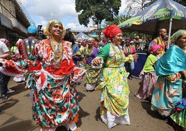 Pobladores de El Callao celebran el carnaval