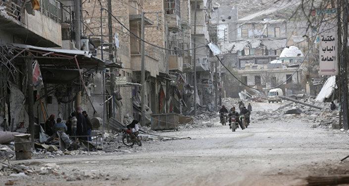 Edificios destruidos en Siria (archivo)