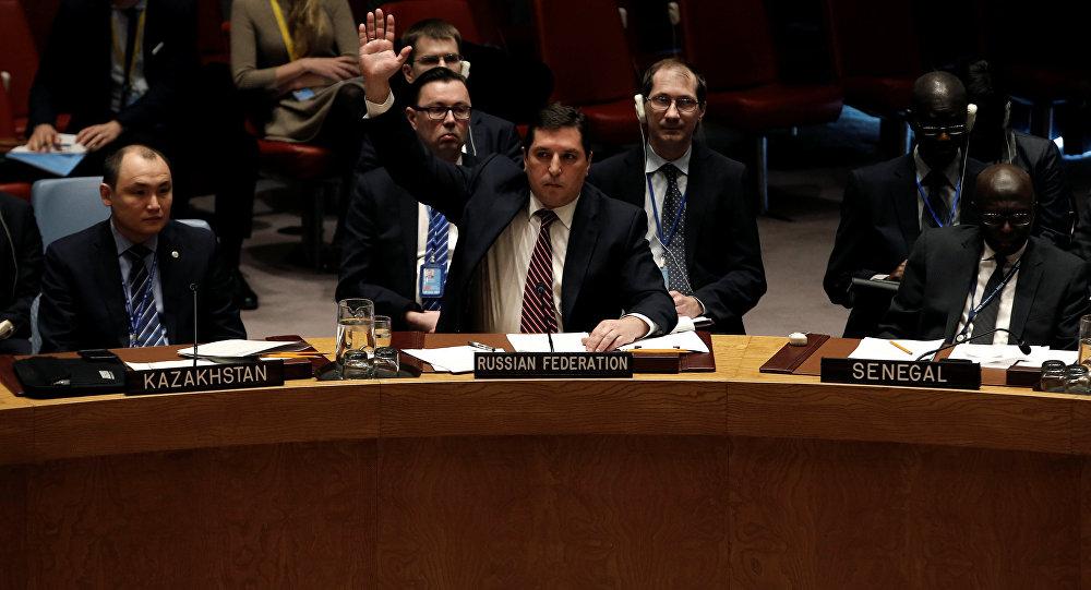Vladímir Safronkóv, el representante permanente adjunto de Rusia ante la ONU