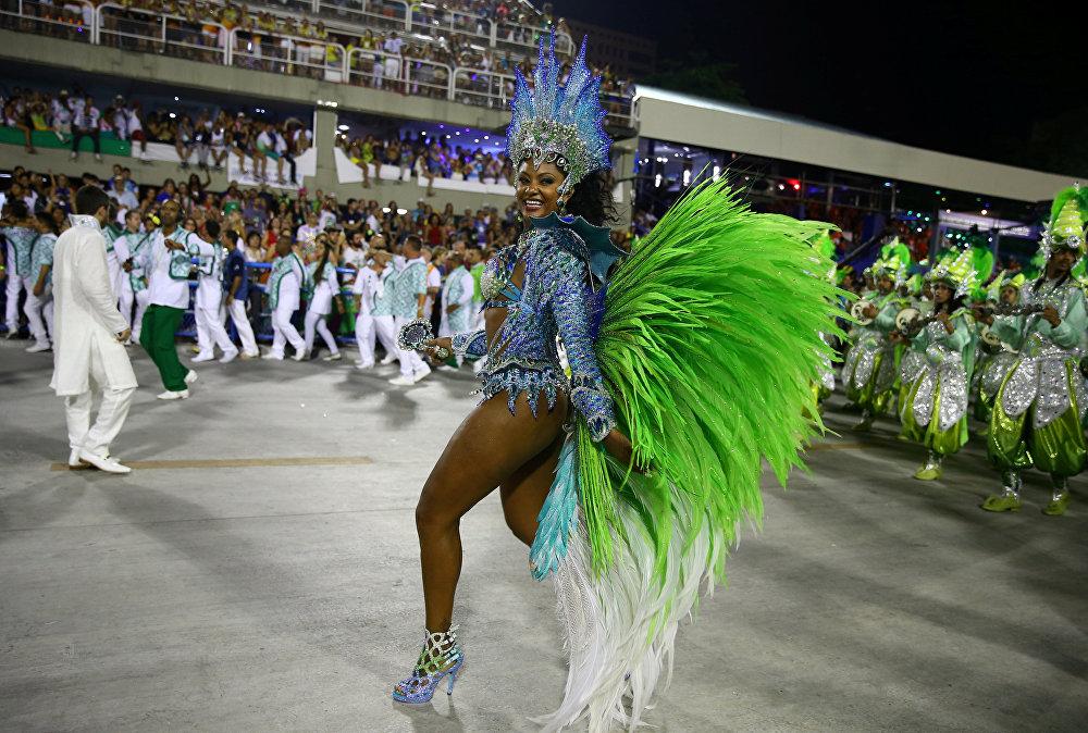 Los colores y el brillo en el carnaval de Río de Janeiro