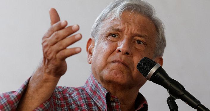 Andres Manuel Lopez Obrador, presidente electo de Mexico (archivo)